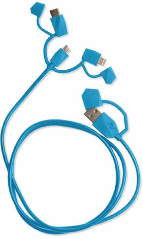 Water Resistant 3-in-1 Charging Cord