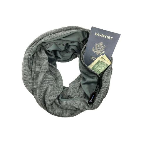 Wide Cut Pocket Infinity Scarf