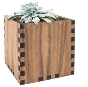 Woodchuck Candle and Desktop Planter Set