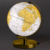 "10"" Globe Light - Arctic White & Metallic Brass"