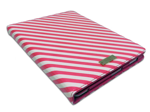 Kate Spade Candy Stripe iPad Folio – Pink/White