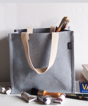 Recycled Canvas Tote with Laminated Lining