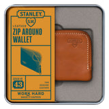 Stanley Tan Leather Zip Around Wallet