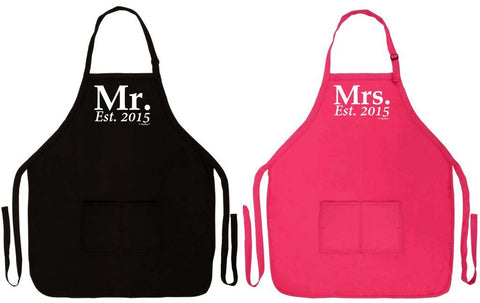 2015 Hubby & Wifey Aprons