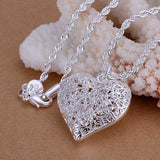 Heart Shaped Sand Flower Necklace