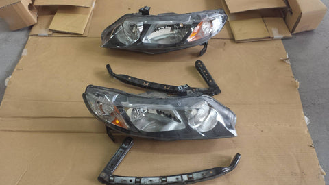 Honda Civic FA5 front headlights w/ brackets