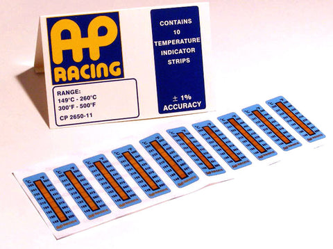 AP Racing Caliper Temperature Strips 300-500°F