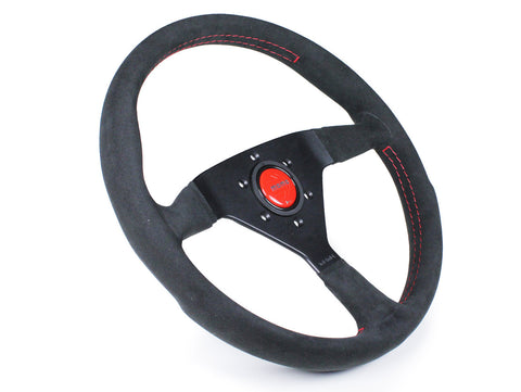 Momo Monte Carlo Steering Wheel - 350mm Black Alcantara Suede