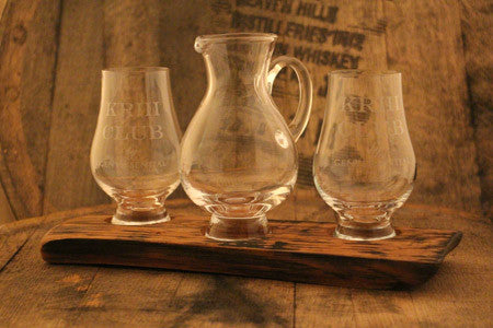 Barrel Stave 2 Glencairn Crystal glass and jug flight