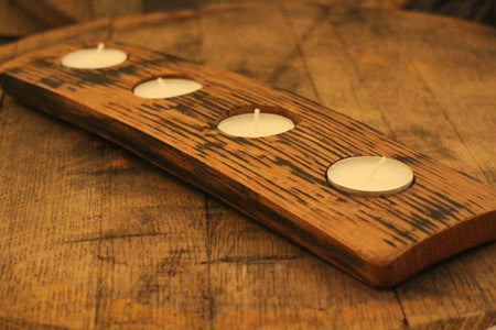 Barrel Stave tea light