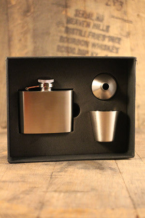 Stainless flask, cup & Funnel