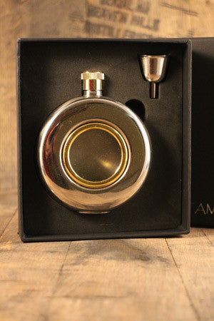 port hole hip flask