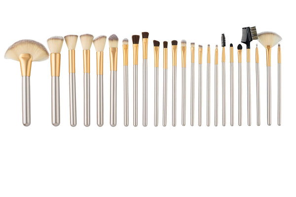 24 Piece Make-Up Brush Set with Travel Case - ZOË AYLA