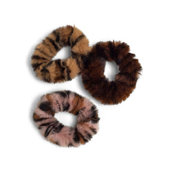 3-Pack Faux Fur Scrunchies - ZOË AYLA