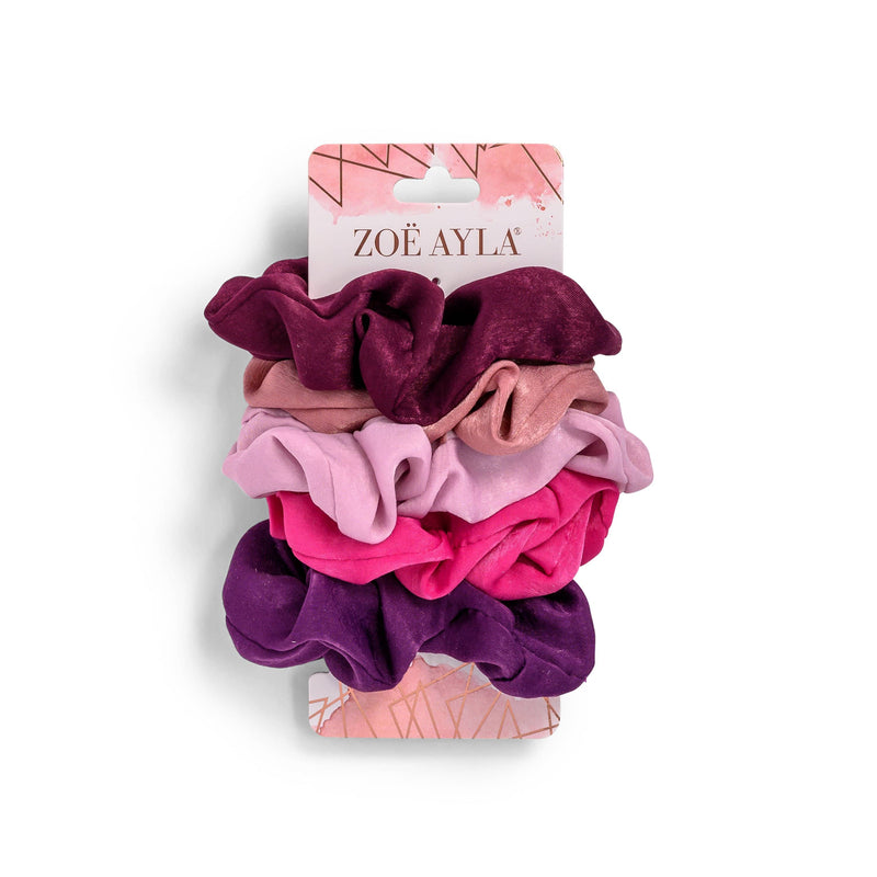 5-Pack Multicolored Scrunchies - ZOË AYLA