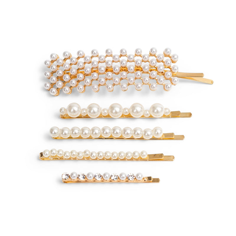 5-Pack Pearl and Golden Hair Clips - ZOË AYLA