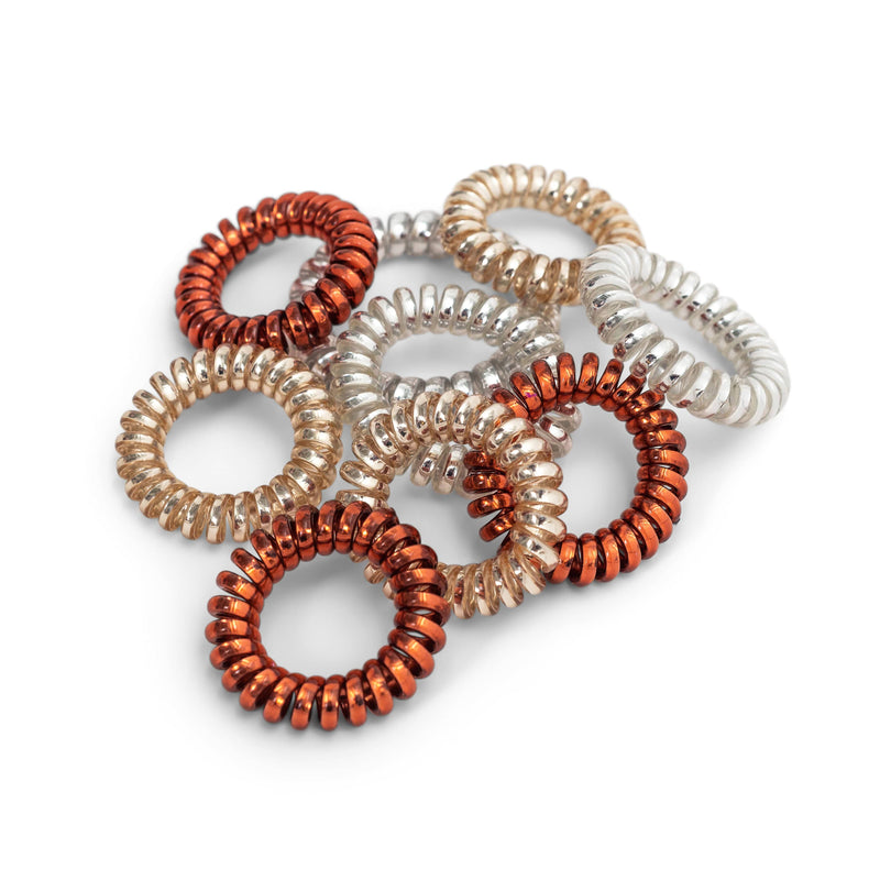 9-Pack Big Spiral Hair Ties - ZOË AYLA