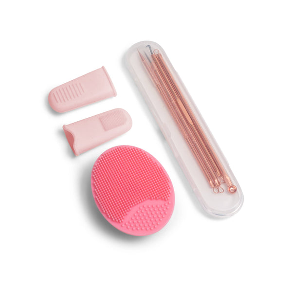 Deep Cleansing Kit: 2 Finger tips, Blackhead Extractor Tools, Silicone Cleanser - ZOË AYLA