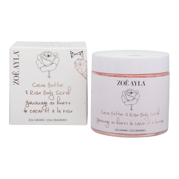 Cocoa Butter & Rose Body Scrub (226G) - ZOË AYLA