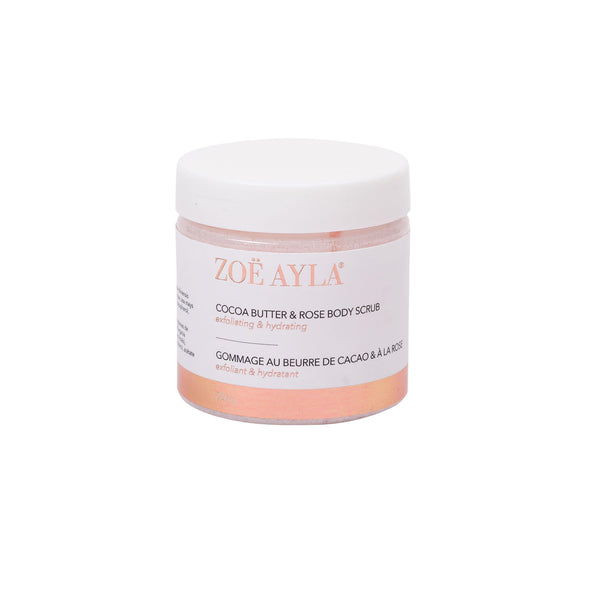 Cocoa Butter & Rose Body Scrub-zoeayla.