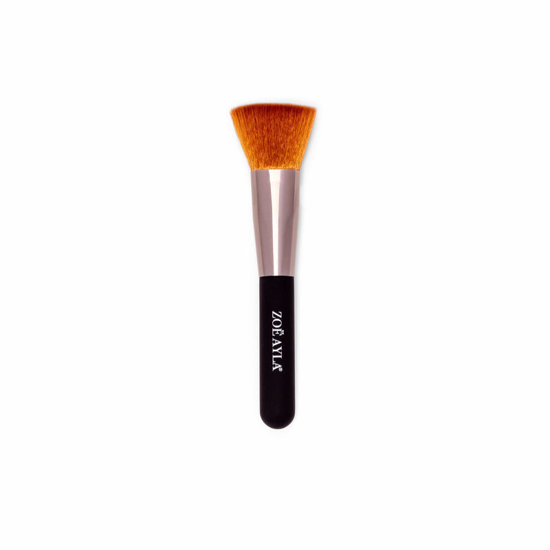 Foundation Makeup Brush with Concave Hole - Soft-Touch Handle Collection - ZOË AYLA