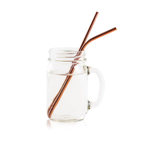 Rosegold Stainless Steel Straw Set - ZOË AYLA
