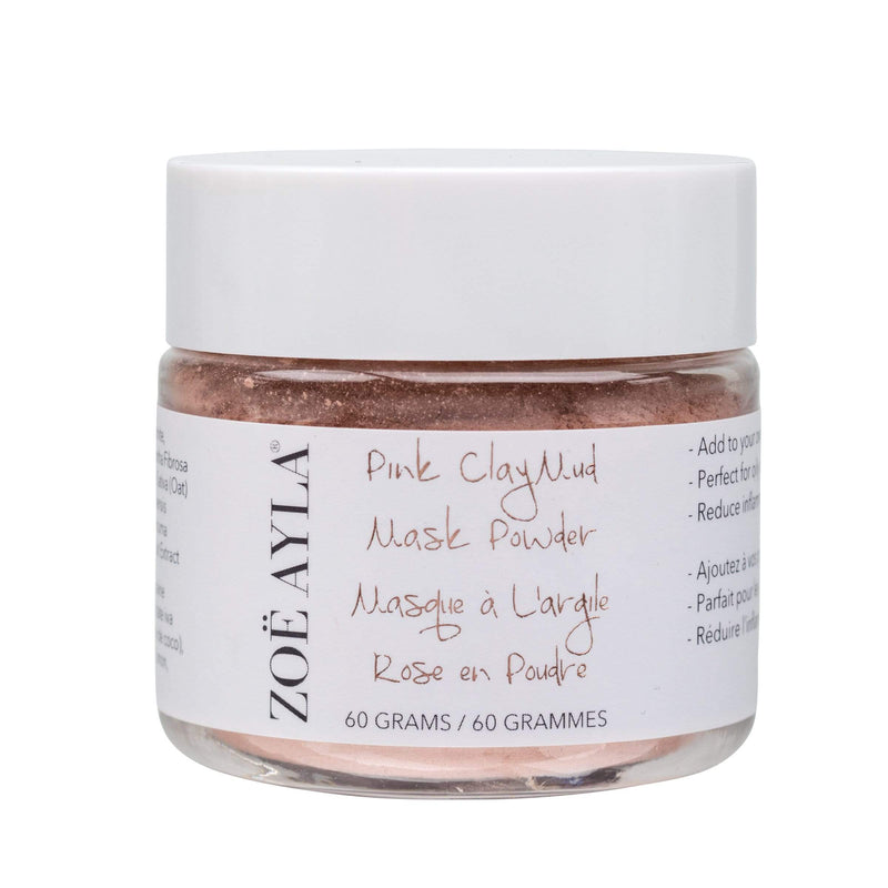 Pink Clay Mud Mask (2oz/60g) - ZOË AYLA