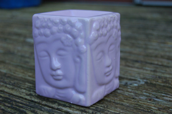 Square Buddha Oil Burner - Peace, Love & Hippie Vibes - 3