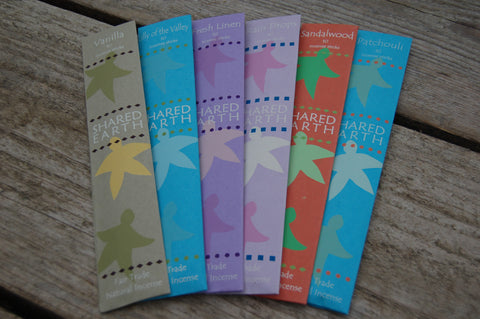 Shared Earth FairTrade Incense Sticks - Peace, Love & Hippie Vibes - 1