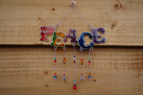 Peace Suncatcher - Peace, Love & Hippie Vibes