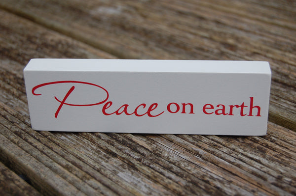 Peace on Earth Wooden Plaque - Peace, Love & Hippie Vibes - 1