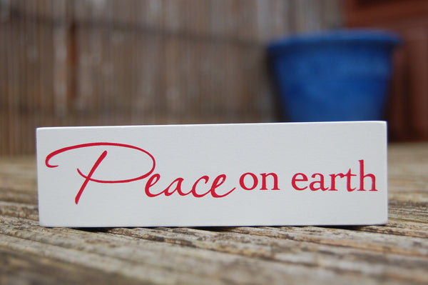 Peace on Earth Wooden Plaque - Peace, Love & Hippie Vibes - 2