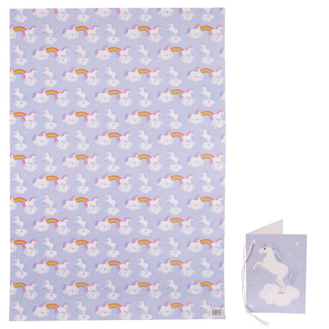 Unicorn Wrapping Paper & Tag - Harmony Wild