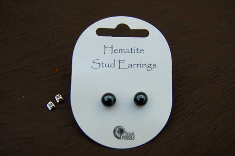 Hematite Stud Earrings - Harmony Wild - 1