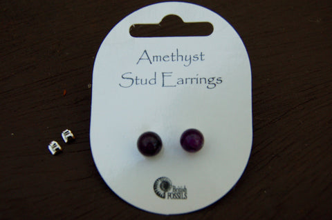 Amethyst Stud Earrings - Harmony Wild - 1