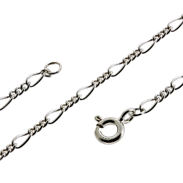 1.9mm Figaro 3 & 1 Chain Necklace from the Necklaces collection at Argenteus Jewellery