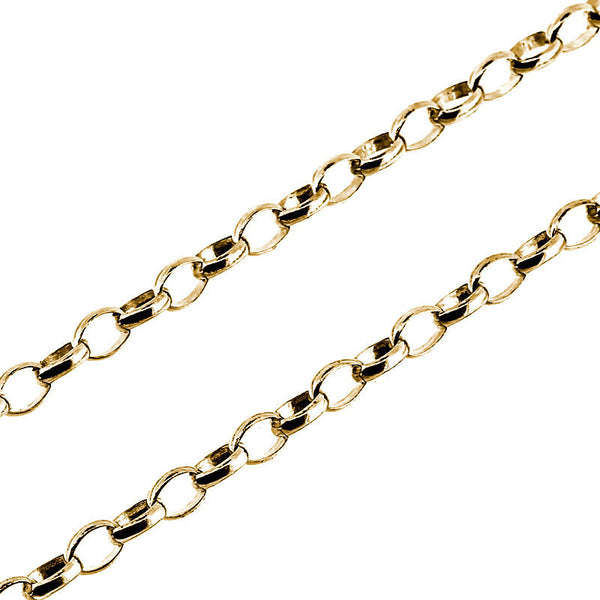 9ct yellow gold light oval belcher chain necklace from the Necklaces collection at Argenteus Jewellery