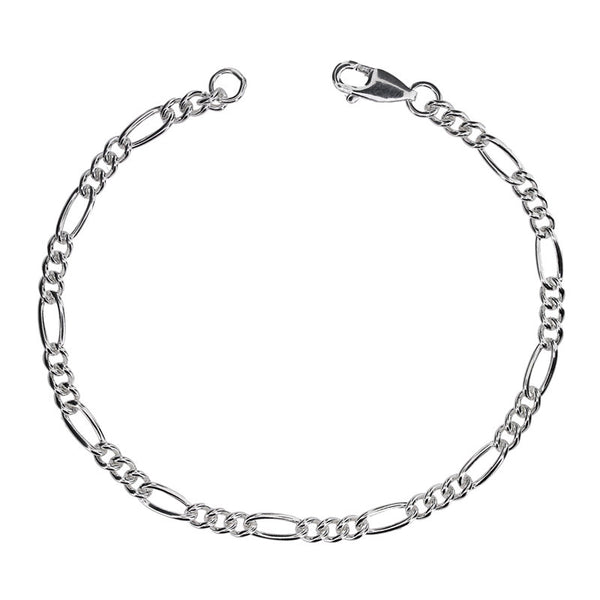 Figaro 3.6mm Chain Necklace or Bracelet from the Bracelets collection at Argenteus Jewellery