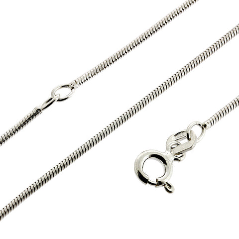 Snake 1.10mm Chain 40cm-45cm Extender Necklace from the Necklaces collection at Argenteus Jewellery