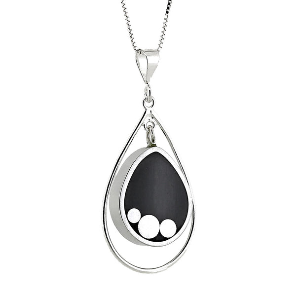 Norman Eames - Black Teardrop Necklace from the Necklaces collection at Argenteus Jewellery