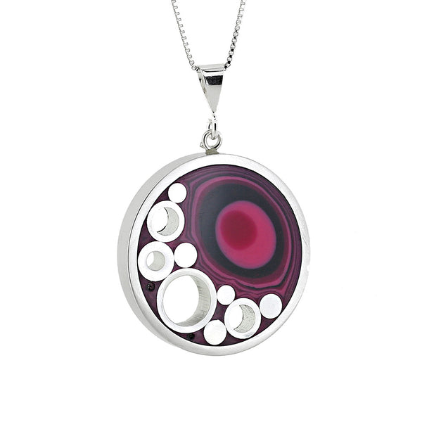 Norman Eames - Purple Circle Necklace from the Necklaces collection at Argenteus Jewellery