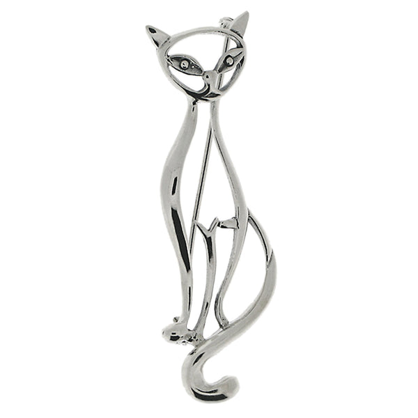 Sitting Cat Brooch from the Brooches collection at Argenteus Jewellery