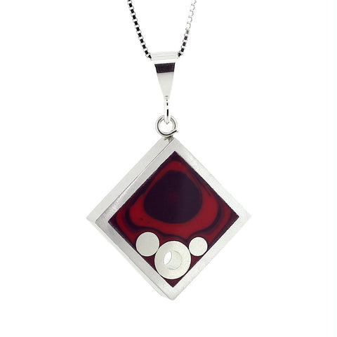 Norman Eames - Red Square Necklace from the Necklaces collection at Argenteus Jewellery