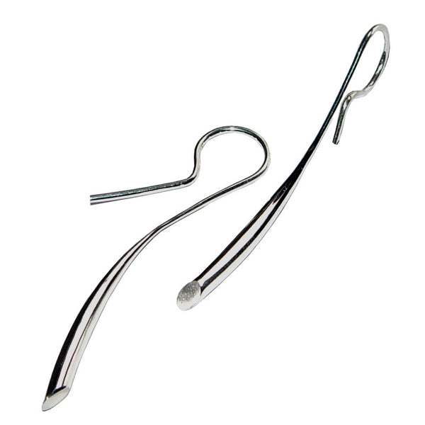 Paul Finch - 38mm Sterling Silver Tapered Drop Earrings from the Earrings collection at Argenteus Jewellery