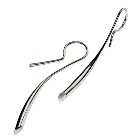 Paul Finch - 38mm Sterling Silver Tapered Drop Earrings