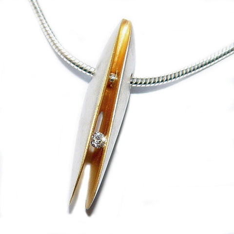 Paul Finch - Diamond (3pt) Shell Shape Drop Necklet