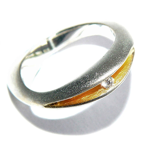 Paul Finch - Diamond (3pt) Shell Shape Ring from the Rings collection at Argenteus Jewellery