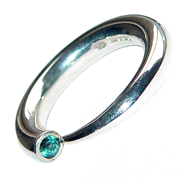 Paul Finch - Blue Topaz Open Curve Ring from the Rings collection at Argenteus Jewellery
