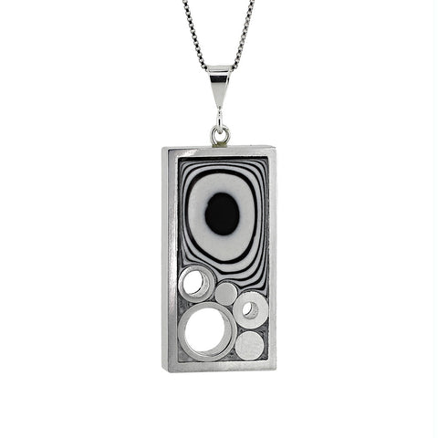 Norman Eames - Black Rectangle Necklace from the Bracelets collection at Argenteus Jewellery