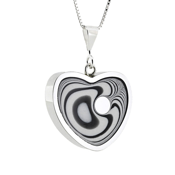 Norman Eames - White Heart Necklace from the Necklaces collection at Argenteus Jewellery